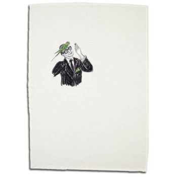 Hans and Parakeet Cotton/Linen Tea Towel Thumbnail